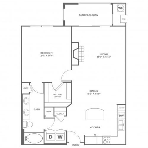 Serenity 2 | 1 bed 1 bath | from 968 square feet