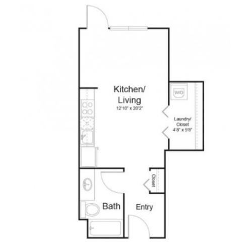 0a1 | Studio1 bath | from 461 square feet