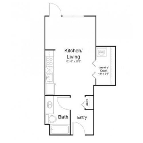 0a1 | 1 bed 1 bath | from 461 square feet