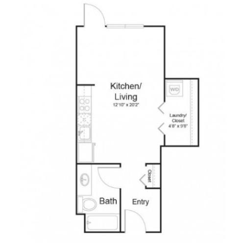 0b1 | 1 bed 1 bath | from 475 square feet