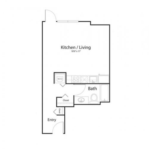 0c1 | Studio1 bath | from 495 square feet