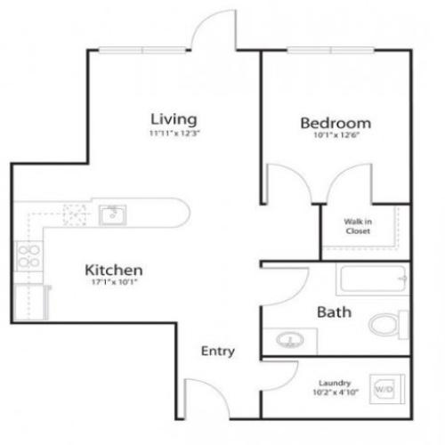 121 | Studio1 bath | from 732 square feet