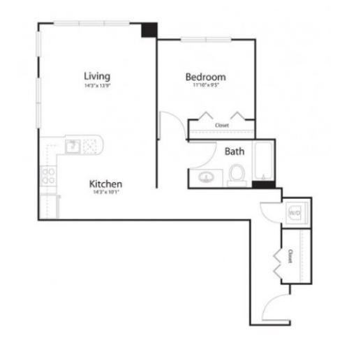 141 | 2 bed 2 bath | from 776 square feet