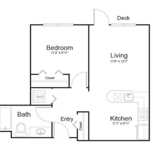 1c1 | 1 bed 1 bath | from 619 square feet