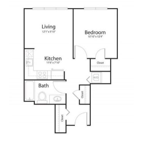 1d1 | 1 bed 1 bath | from 619 square feet