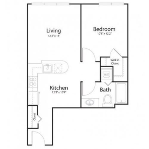 1f1 | 1 bed 1 bath | from 634 square feet