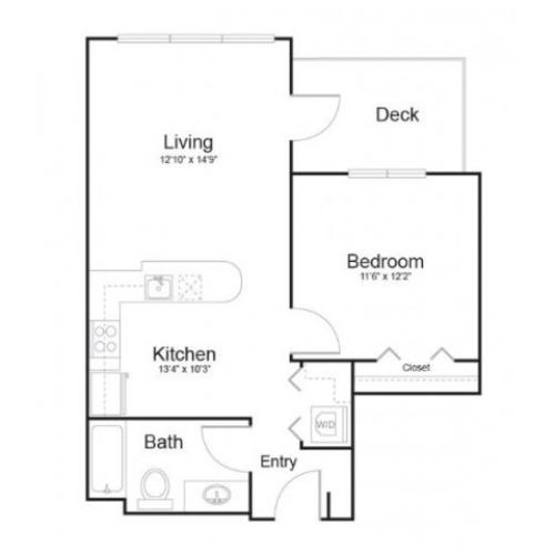 1g1 | 1 bed 1 bath | from 636 square feet