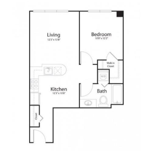 1i1 | 1 bed 2 bath | from 636 square feet