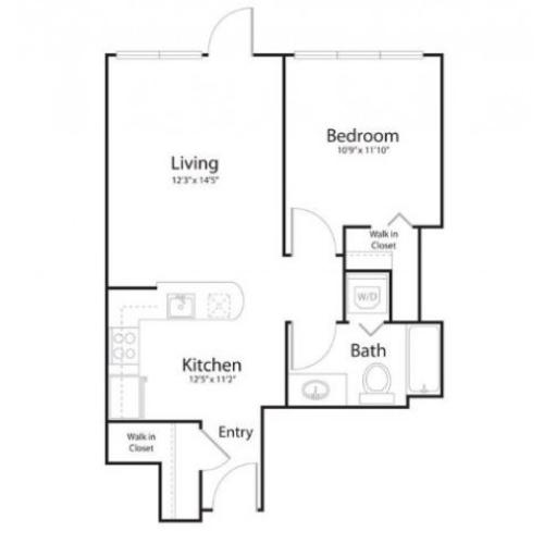 1j1 | 1 bed 1 bath | from 637 square feet