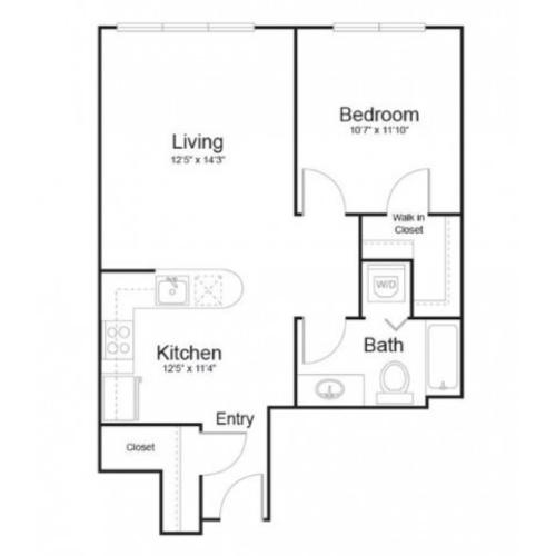 1q1 | 1 bed 1 bath | from 679 square feet