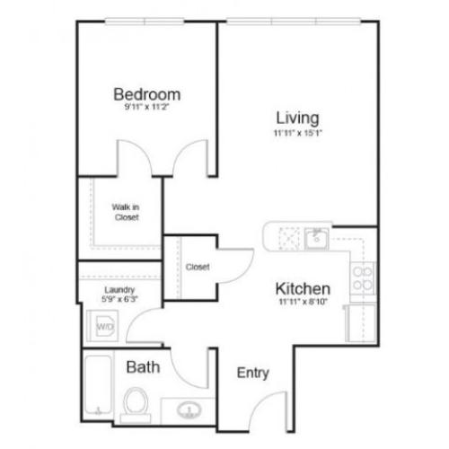 1s1 | 1 bed 1 bath | from 681 square feet