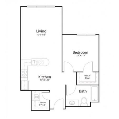 1v1 | 1 bed 1 bath | from 705 square feet