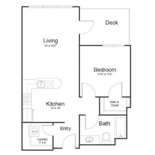 1x1 | 1 bed 1 bath | from 715 square feet