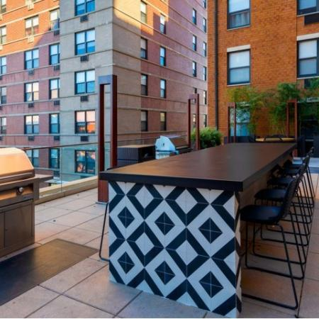 Outdoor grilling and entertainment area