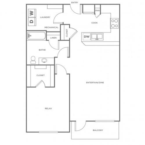 A3 | 1 bed 1 bath | from 852 square feet