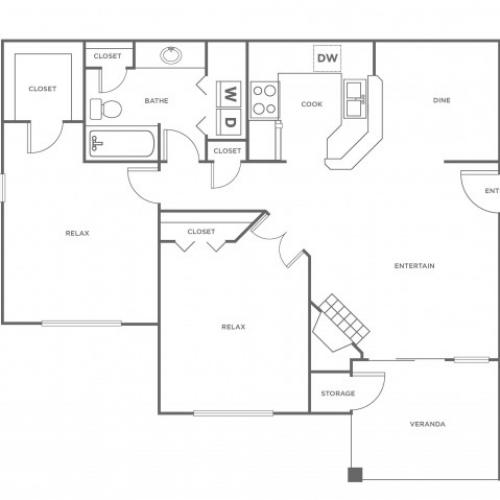B1 | 2 bed 1 bath | from 966 square feet