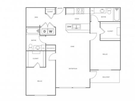 B2L   2 bed 2 bath   from 1317 square feet