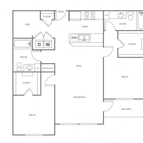 B2L | 2 bed 2 bath | from 1317 square feet