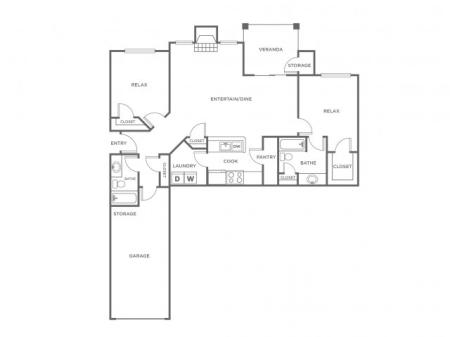 B3G   2 bed 2 bath   from 1184 square feet