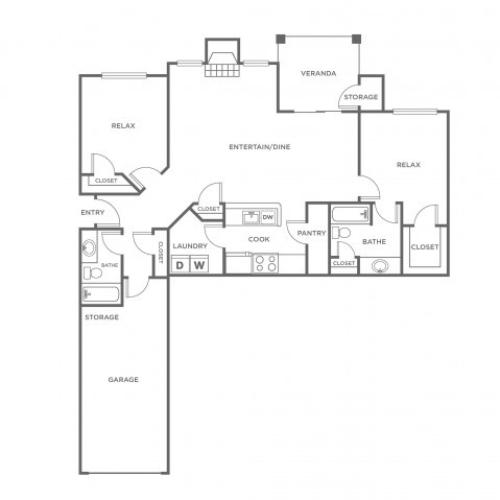 B3G | 2 bed 2 bath | from 1184 square feet
