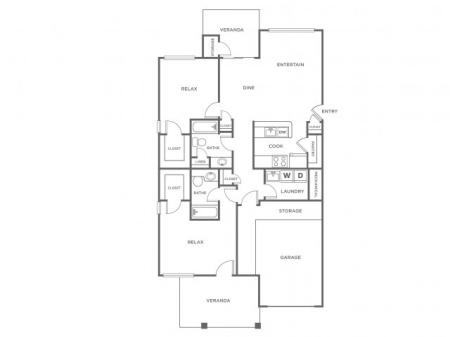 B4G   2 bed 2 bath   from 1217 square feet