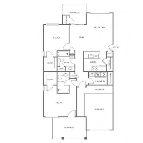 B4G | 2 bed 2 bath | from 1217 square feet