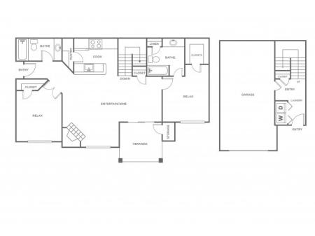 B5G   2 bed 2 bath   from 1323 square feet