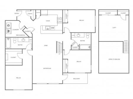 C1L   3 bed 2 bath   from 1545 square feet