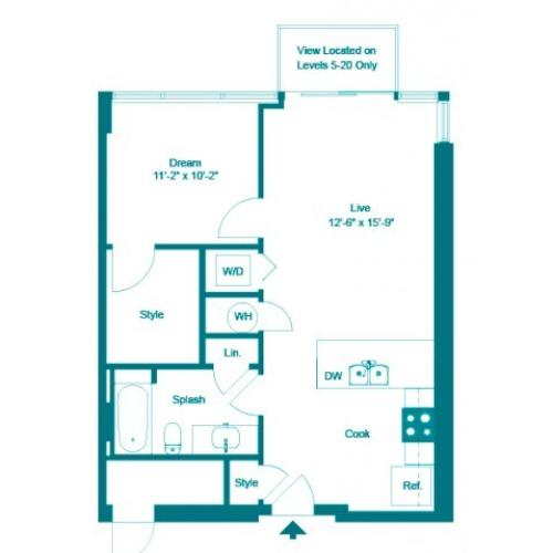 Keppel | 1 bed 1 bath | from 685 square feet