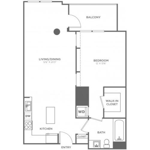 B1 | 1 bed 1 bath | from 800 square feet