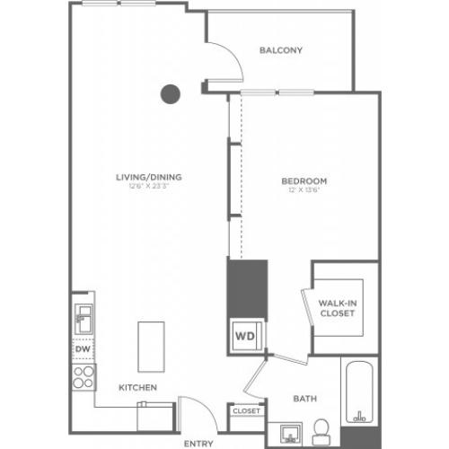B2 | 1 bed 1 bath | from 810 square feet