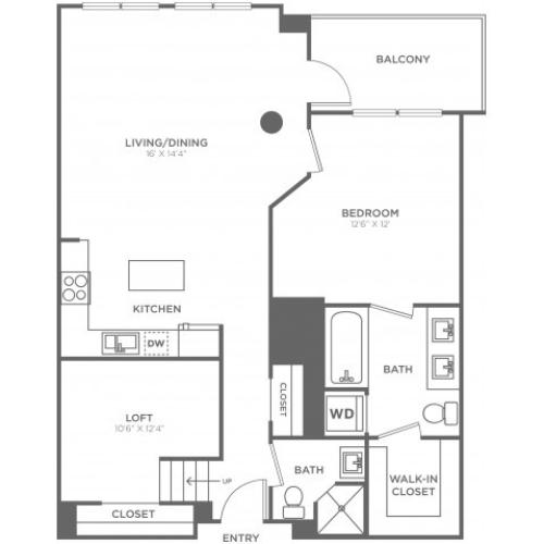 C1 | 1 bed 2 bath | from 960 square feet