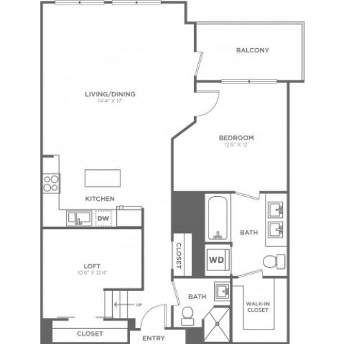 C2 | 1 bed 2 bath | from 970 square feet