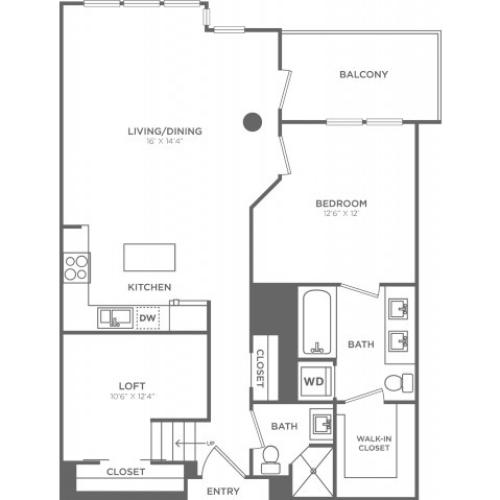 C4 | 1 bed 2 bath | from 960 square feet