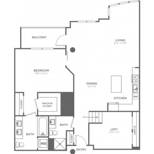 E1 | 1 bed 2 bath | from 1320 square feet
