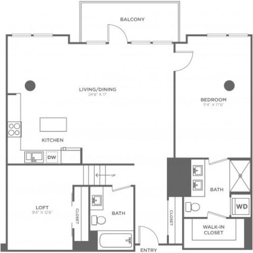 G1 | 1 bed 2 bath | from 1150 square feet