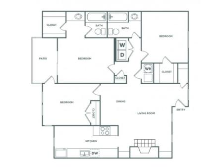 3AR - 3 Bedroom - Luxe | 3 bed 2 bath | from 1355 square feet