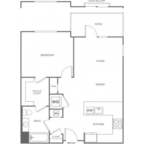 Pine East | 1 bed 1 bath | from 796 square feet