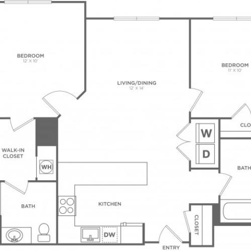 Cypress East | 2 bed 2 bath | from 1077 square feet