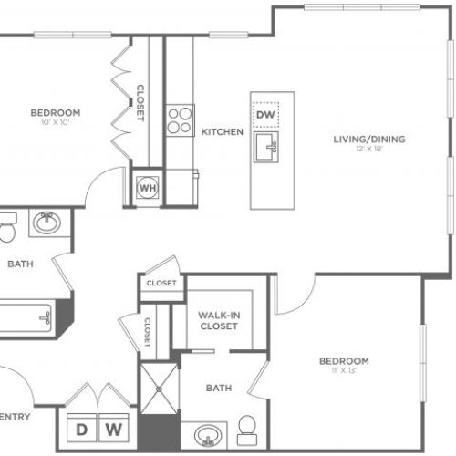 Laurel East | 2 bed 2 bath | from 1099 square feet