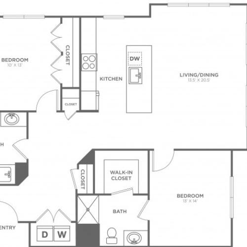 Juniper East | 2 bed 2 bath | from 1152 square feet