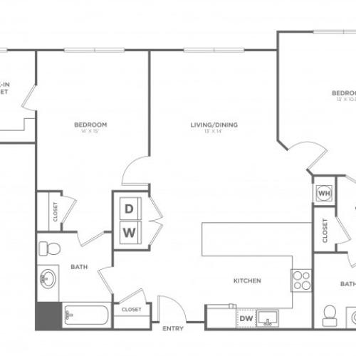 Sycamore East | 2 bed 2 bath | from 1200 square feet