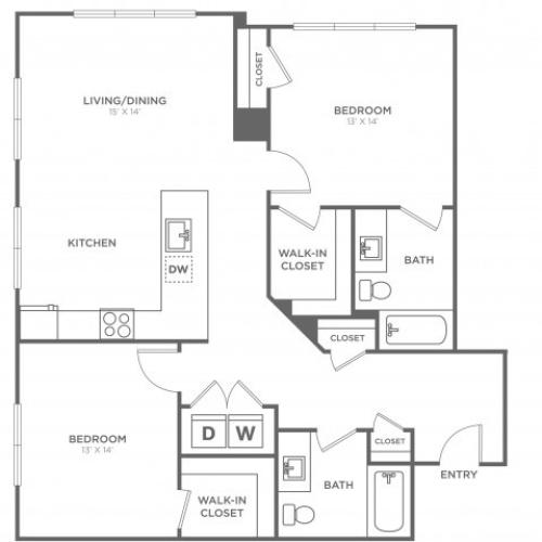 Lindon West | 2 bed 2 bath | from 1171 square feet