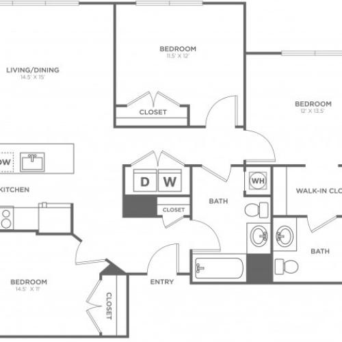 Willow East | 3 bed 2 bath | from 1320 square feet