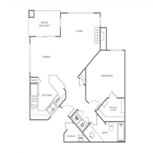 1AR | 1 bed 1 bath | from 799 square feet