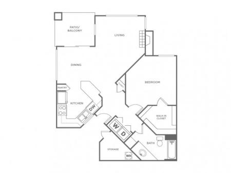 1BR | 1 bed 1 bath | from 824 square feet