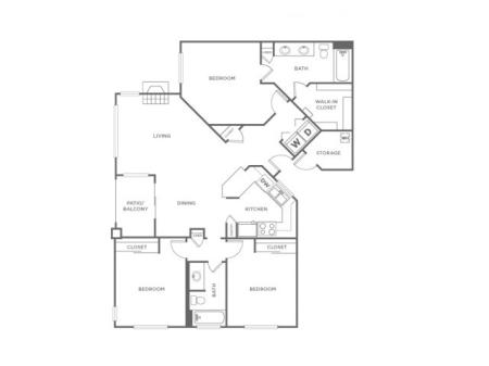3AR | 3 bed 2 bath | from 1224 square feet
