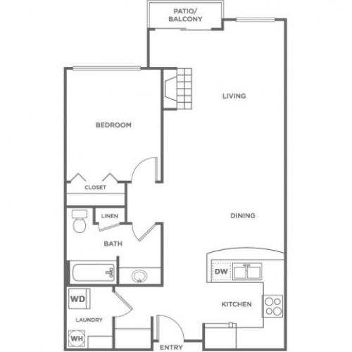 Deer | 1 bed 1 bath | from 735 square feet
