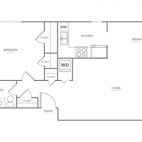 Whidbey | 1 bed 1 bath | from 663 square feet