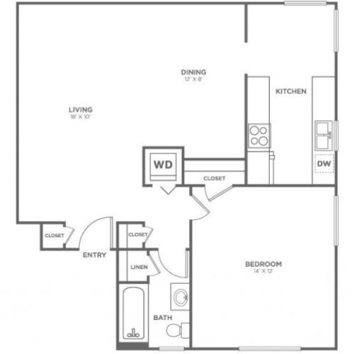 Blakley | 1 bed 1 bath | from 706 square feet